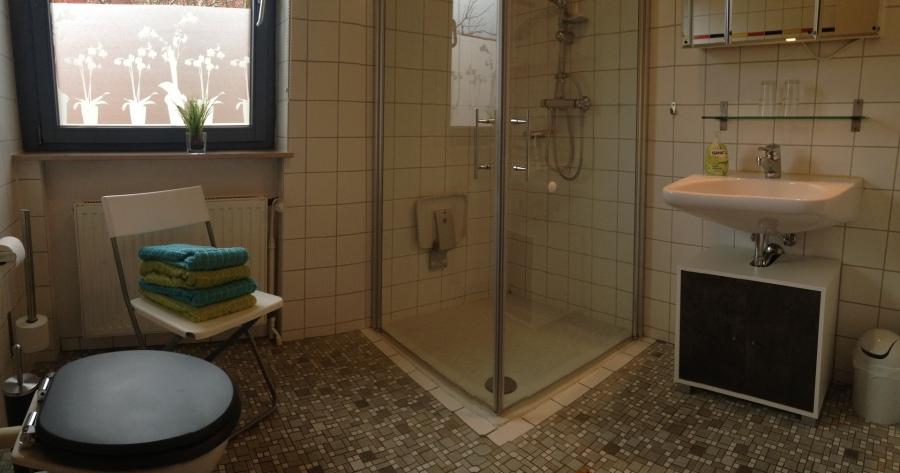 Gemütliche Ferienwohnung in Lauenburg / Elbe - Badezimmer